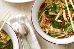 Ward away autumn chills and winter colds with this fragrant and spicy soup by Bill Granger.