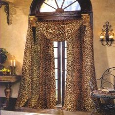 Leopard print curtains - I need these for my house like now!!