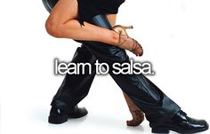 Terrible at salsa, but so much fun! Would love to take an intermediate level class with my hubby ♥