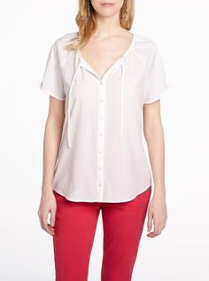 Short sleeve peasant blouse | Women| Shop Online at Reitmans