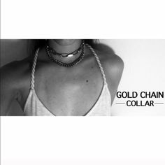 Gold choker necklace Gold two chain choker ASOS Jewelry Necklaces