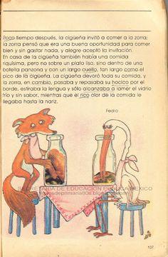 La Zorra y la Cigueña-3, te acuerdas? libros de texto gratuitos 80's México