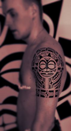 #tribal totem #tattoo design on the arm