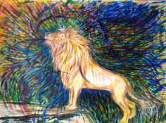 """Painting titled, """"He is Mighty to save"""".  Lion of Judah, colorful worship Prophetic art from .Just For You Prophetic Art -www.justforyoupropheticart.com/about.html This Lion was painted for my son. His story shared here. Thanks for looking. Blessings! Holy Spirit, salvation, quote"""