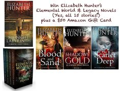 Win Elizabeth Hunter's Elementals Series & a $50 Amazon Gift Card  https://www.thesneakykittycritic.com/giveaways/win-elizabeth-hunters-elementals-series-a-50-amazon-gift-card/?lucky=13573