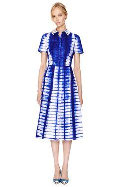 Indigo Tie Dye Dress by Tory Burch Now Available on Moda Operandi