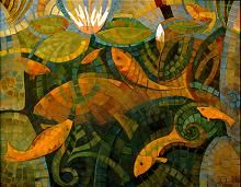 :: would be fabulous as a quilt . ~ Gail :: Mosaic Fish by Fen Lasell