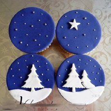 Cupcakes to go with the christmas cake I made last week x