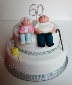 Diamond 60th wedding anniversary cake! facebook.com/lousbakinganddecorating