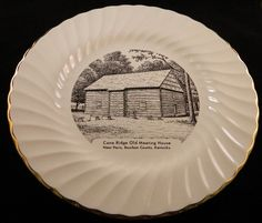 Vintage Christian Collector's Plate Cane Ridge Old Meeting House Paris, KY