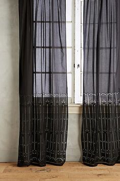 Anthropologie Emile Striped Curtain