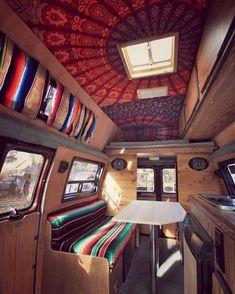Camper van interior design and organization ideas (40)