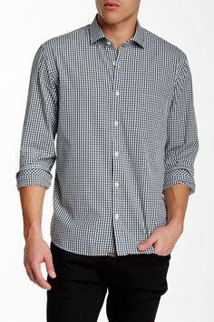 John T Gingham Long Sleeve Standard Fit Shirt