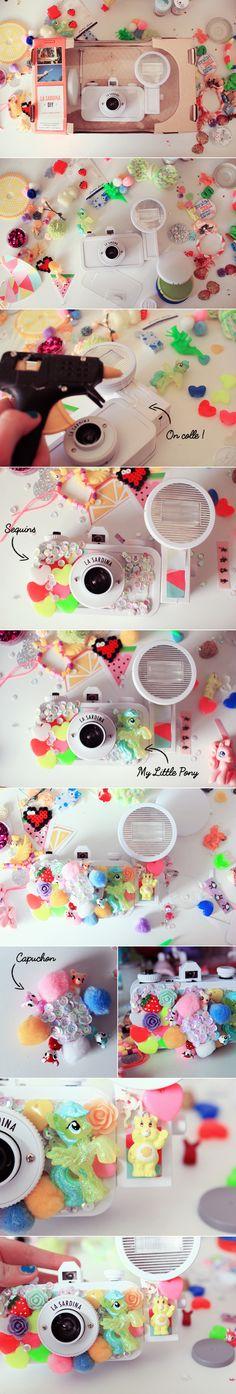 ♥ Mon La Sardina DIY KAWAII ♥ – Poulette Magique Diy Craft Projects, Diy And Crafts, Arts And Crafts, Craft Ideas, Washi, Magic Chicken, Kawaii Diy, Camera Case, Lomography