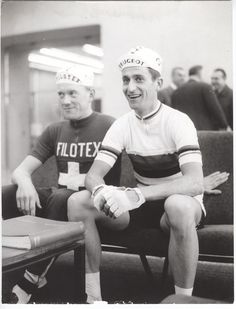 Rudi and Tom at the 1965 Tour of Lombardia.