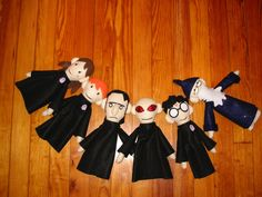 Homemade Potter Puppet Pals! These look great!