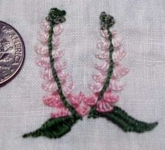 Flower using buttonhole stitch