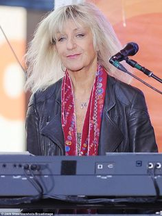 """Christine McVie on the """"Today"""" show (NBC) 9 October 2014."""