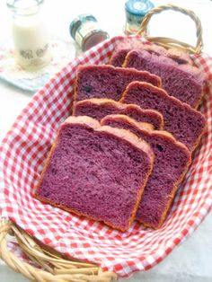 Purple potato bread Purple Potato Recipes, Peruvian Potatoes, Bountiful Baskets, Purple Potatoes, Purple Food, Potato Bread, Tortillas, Baked Goods, Banana Bread