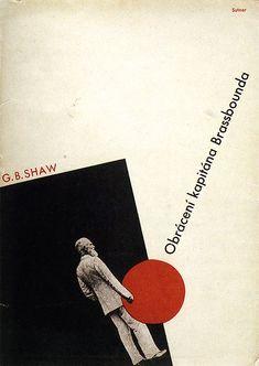 Book cover for Georg Bernard Shaw by Ladislav Sutnar 1932