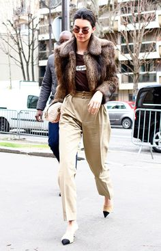 Kendall Jenner has been breaking her leggings habit lately with khakis, jeans, culottes, and more. Here's a look at her best outfits.