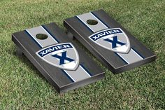 Gray Onyx Xavier Musketeers Varsity Stripe Cornhole Game