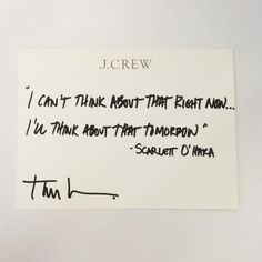 Get to Know J. Crew Designer Tom Mora in Ten Seconds  #InStyle #quote