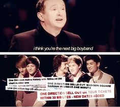 I'm crying. Their dreams came true. I'm so happy. This makes me forget about all the bad stuff going on because this is here it all started. I love them so much. Forever a Directioner. No regrets. I love this fandom and our lads. Together we are a family. ♥ xx