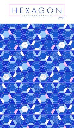 Hexagons - Geometric seamless pattern on Behance