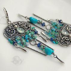 TALE of AZURE COAST - earrings by JoannaWatracz, via Flickr