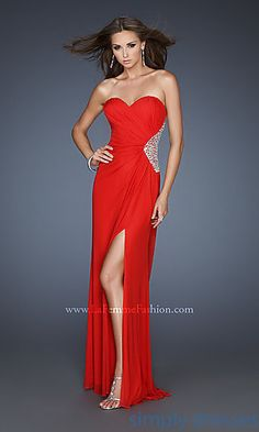 Open Back Evening Gown by La Femme 18771 at SimplyDresses.com