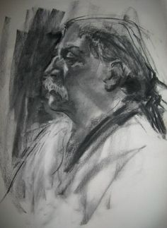 The Artisan - original charcoal portrait drawing, original ...