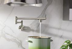 Modern Pot Filler spot resist stainless two-handle kitchen faucet - S665SRS