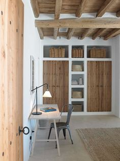 Possible brick/rendered wall cupboard – if not enough store space in kitchen. To… Possible brick/rendered wall cupboard – if not enough store space in kitchen. Interior Architecture, Interior And Exterior, Interior Design, Interior Doors, Kitchen Wall Colors, Wood Interiors, Wooden Doors, Oak Doors, Design Case