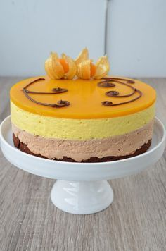 Photo by nubsu Mango Chocolate, Finnish Recipes, Chocolate Cheesecake, Sweet Cakes, Cheesecake Recipes, Baking Recipes, Cake Decorating, Sweet Treats, Sweets