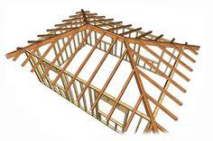 Четырехскатная (шатровая) крыша дома