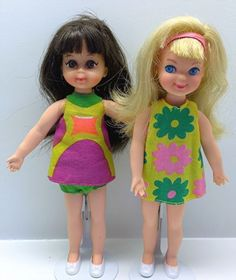 Vintage Barbie Tutti Doll Lot of 2 with Dark Brown Hair and Blonde Hair | eBay