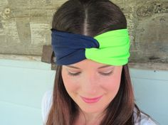 Hey, I found this really awesome Etsy listing at https://www.etsy.com/listing/202376694/seattle-seahawks-headband-navy-blue-and