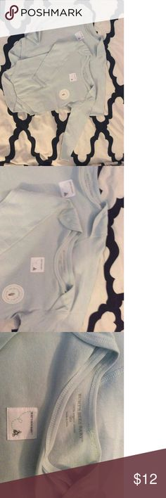 Bundle Burts bees 🐝 2 onesies Made with 100 % organic cotton,  lovely baby blue color. Burt's Bees Baby One Pieces Bodysuits