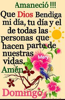 Frases para el Alma: Amaneció!!! Que Dios te bendiga a ti, a mi y a tod...
