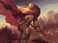 Magic Art in Focus - Outland Colossus by Ryan Pancoast - Read about one of Ryan's favorites:
