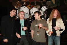 Tommy Iommi, Ian Paice, Bruce Dickinson and Janick Gers - Hard Rock Cafe - London.