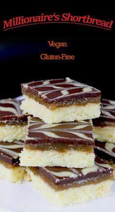 Vegan, Gluten-Free Millionaire's Shortbread