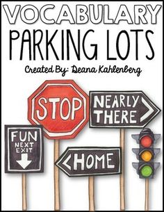 Vocabulary Parking Lots (FREE)