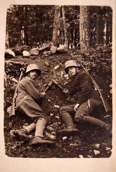 German soldiers in the first World War