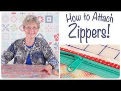 How to Install Zippers with ByAnnie and Fat Quarter Shop - YouTube