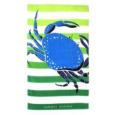 Tommy Hilfiger Nantucket Blue Crab Beach Towel $24.99