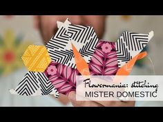 Flowermania is an English Paper Piecing Pattern by Mister Domestic that transforms basic shapes into a modern bouquet worthy of snuggling. Paper Piecing Patterns, Quilt Patterns, Weaving Projects, Basic Shapes, English Paper Piecing, Diy Pillows, Paper Goods, Hand Sewing, Gift Wrapping