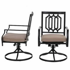 Patio Dining Chairs, Dining Arm Chair, Swivel Chair, Kitchen Living, Cushions, Relax, Indoor, Rust, Furniture