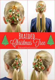 Hope you don't mind, but we have another Christmas tree hairstyle for you this week! Our Christmas Tree Pull-Through Braid style from last week was so well received. Thanks to everyone who has tried i